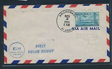 06405) KLM Polar FF Anchorage - Tokyo Japan 2.11.58, RR!!