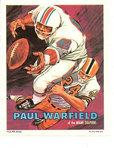 7 CT. LOT PARTIAL SET 1970 TOPPS FOOTBALL POSTERS WARFIELD TINGLEHOFF NICE!