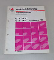 Workshop Manual Mitsubishi Galant E 30 Supplement Electric Schematics Since 1992