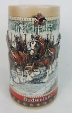 VTG 1988 Budweiser Collectors Series Holiday Beer Stein Mug Clydesdale Horses