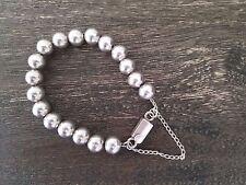 Retired Silpada 925 Sterling Silver 10mm Bead Ball Bracelet B0471  PRISTINE