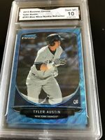2013 Bowman Chrome Tyler Austin Blue Wave Refractor Rookie Graded 10 💎 MINT