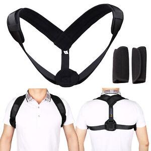 Back Brace Posture Corrector for Men Women Adjustable Straightener Mid Support
