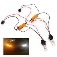 2pc T20 7440 42-LED 2835 50W Dual-Color Switchback LED DRL Turn Signal Light Kit