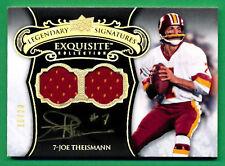 2008 Exquisite Collection JOE THEISMANN AUTOGRAPH JERSEY Redskins 16/20