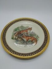 Lenox Boehm Woodland Wildlife Plate 1974 Red Foxes ~ Excellent