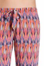 New PJ SALVAGE Sz L Multi-color Island Vibe Drawstring Pajamas Lounge Pants