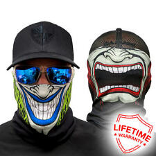 MOTORBIKE FACE MASK - 2 FACED SPLIT PERSONALITY - Motorcycle, Paintball, Outdoor