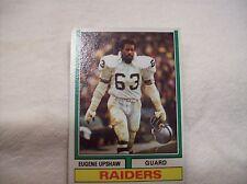 1974 Topps Football Eugene Upshaw #65