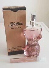 Eau de parfum Classique Jean-Paul Gaultier 10 ML Flacon Verre Rechargeable Neuf