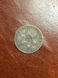 1855 THREE CENT SILVER VERY VERY TOUGH LOW MINTAGE DATE CHOICE XF