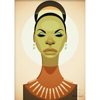 Nina Simone by Stanley Chow - Signed and stamped archival Giclee print