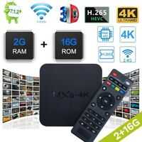 2021 MXQ Pro 4K Streamer Box 2GB UHD Wifi Android Quad Smart TV Media Player Lot