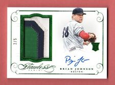 BRIAN JOHNSON 2016 FLAWLESS AUTOGRAPH 3 COLOR PATCH AUTO ROOKIE RC # / 5 RED SOX