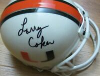 Larry Coker signed Miami Hurricanes mini helmet & inscribed 2001 National Champs