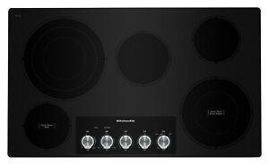 """kitchenaid 36"""" cooktop electric cooktop Smooth Surface Radiant black kces556hbl"""