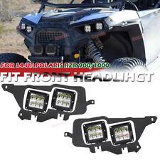 14-UP POLARIS RZR 900/1000 Front Headlight Bracket+4X 18W Cube LED Light Pod