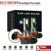 2pcs H11 LED Headlight Kits 110W 20000LM FOG Light Bulb 6000K Driving DRL Lamp &