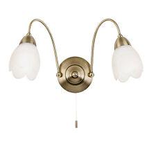 ENDON PETALO 2LT luce a parete 40W antico effetto ottone piatto & OPACO
