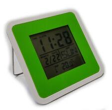 Horloge digitale Multifonction Verte  Calendrier  Thermomètre Minuteur Reveil