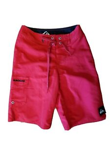 Quiksilver Boys Bathing Suit Trunks Board Shorts Red Size 22 Never Worn No Tag