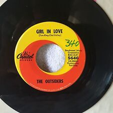 """The OUTSIDERS-Orig HIT 45-""""Girl In Love""""-1966-Capitol-Great Garage Ballad!-EX"""