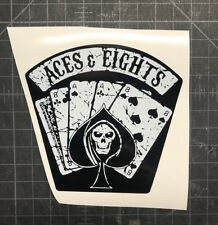 Aces & 8's Eights TNA Wrestling Vinyl Decal Dead Man's Hand Impact GFW Sticker