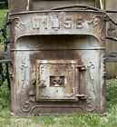 Large Antique Cast Iron Wise Boiler / Furnace Door With Embossed Owl No. 221