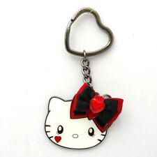 UNIVERSAL STUDIOS JAPAN USJ HELLO KITTY HEART RING KEY CHAIN w/ CHARM