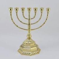 amenorà Menora Kerzenhalter Hebräisch 7 Arme Messing fest Größe Medien