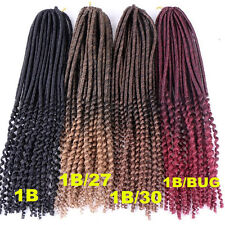 Dreadlock synthetic hair extensions ebay 20 havana mambo faux locs dreadlocks braids hair extension crochet curly end pmusecretfo Image collections