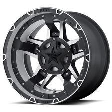 "(5) 18"" XD XD827 Rockstar 3 Black Machined Wheels Rims Jeep Wrangler JK 5x5"