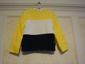 NWT Janie And Jack Boys COLORBLOCKED SWEATSHIRT 4  4T  Yellow