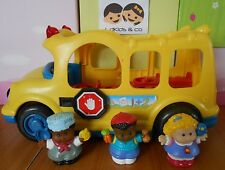 FISHER PRICE LITTLE PEOPLE BUS SCOLAIRE SONORE LUMINEUX + 3 PERSONNAGES # 1