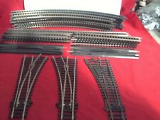 HORNBY/PECO DOUBLE RADIUS COLLECTION OF NICKEL SILVER TRACKS AND POINTS X 32 PCS