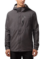 Paradox Men's Black Waterproof Hooded Lightweight Rain Jacket Size XXL