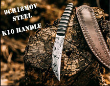 Fixed Blade Hunting Knife 9Cr18M Skinner Camping Tactical Outdoor Survival k10