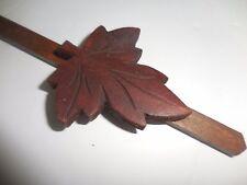 New  SMALL CARVED  CUCKOO CLOCK grape  leaf  8 day pendulum