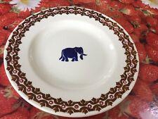 "Emma Bridgewater Blue Marching Elephants 8.5"" Plate  Rerun Discontinued Last One"
