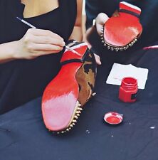 Red Soles Paint For Louboutin  Red Bottoms Designer Loafers  Men Shoes Repair