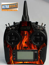 Spektrum DX9 DX8 DX7S Fire Skin Wrap Decal Transmitter Controller