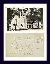 FLORIDA DE LAND METHODIST CHURCH REAL PHOTO POSTCARD AZO BACK CIRCA 1920