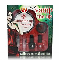 W7 Halloween Vamp Me Up Face And Body Paint Make Up Set Gothic Fancy Dress