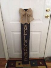 .Rustic Handmade Wooden Welcome Sign Front Porch Decor,primitive Sign