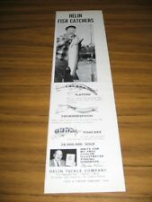 1964 Print Ad Helin Fishing Lures Flatfish,Swimmerspoon,Fishcake Detroit,MI