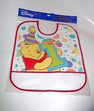 WINNIE THE POOH 1ST Birthday Bibs Boy Girl Disney Cartoon Party Favor Supply 2cu