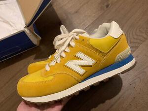 New Balance 574 Yellow and Blue USA7/UK6.5