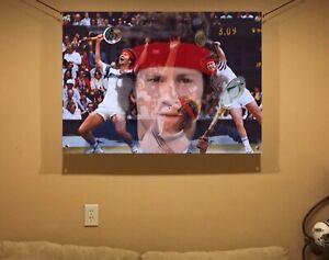 BIG! 44x31 JOHN McEnroe Vinyl Banner POSTER tennis art Roger Federer Bjorn Borg