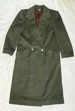 Vintage Karen Trench Coat Jacket USA Silk Cashmere Wool Army Green 14