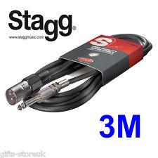 Stagg sac3pxmdl S. SERIE 6MM AUDIO da XLR 3m Cavo per la fase musicista-NUOVO
